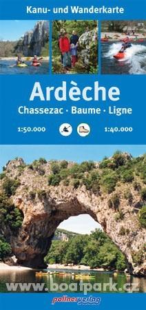 Vodácká mapa Ardeche