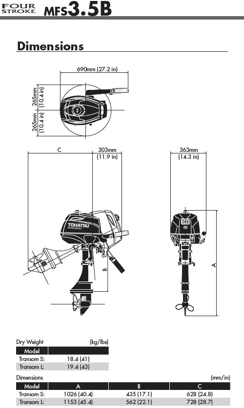 Lodní motor Tohatsu MFS3.5B S