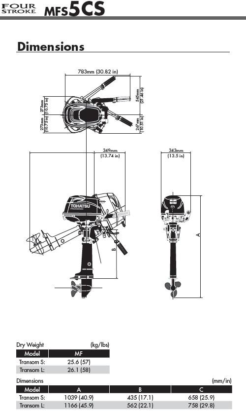 Lodní motor Tohatsu MFS5B L