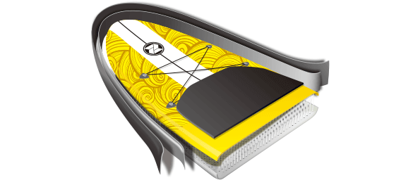 Technologie paddleboard zray X1
