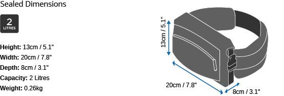 OverBoard Pro Light vodotěsná ledvinka_rozměry.jpg