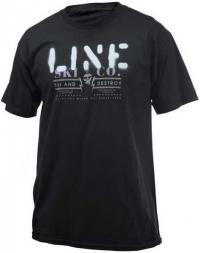 Line Stencil S/S triko černá