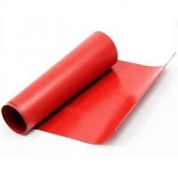 Servisní červená PVC látka, metráž