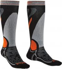 Ponožky Bridgedale Ski Midweight Black/Silver