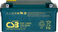 Trakční akumulátor CSB EVX12650 (12V/65Ah)